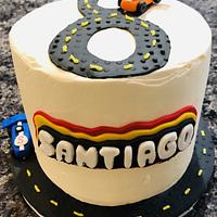 Lego race car cake