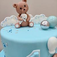 1st birthday cake by Aish Sweet Life