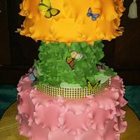 "Wedding Cake ""Butterflies in the belly"""