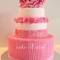 beautiful white and pink cake