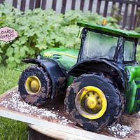 John Deere cake by Lenkydorty