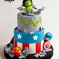 Baby Marvel Avengers cake