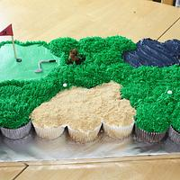 Caddyshack themed Cupcake Cake by Michelle