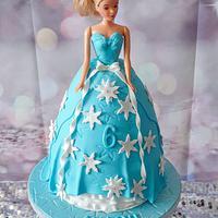 Frozen barbie elza cake