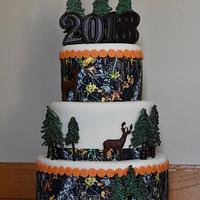 Camouflage hunting cake