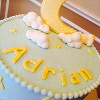 Sweet dreams baby shower cake