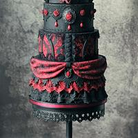 Vampire masquerade cake