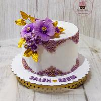 Purple royal cake by Doaa Mokhtar