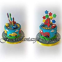 Kids vehicle cake by Fondantfantasy