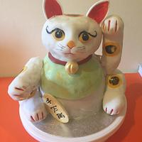 Lucky Cat Cake