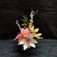 Sweet pea,buds ,flowers