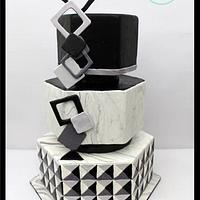 Optical Illusion- 50 cakes of gray Around the world in Sugar collaboration