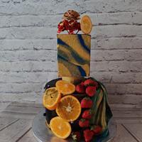 A fruity Affair:Modern Wedding cake series