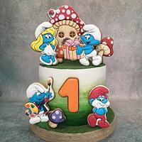 The Smurfs birthday cake