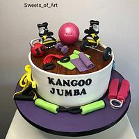 Kangoo gym cake