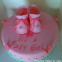 Baby Booties Baby Shower Cake