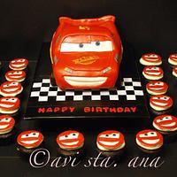 Cars Lightning McQueen Cake
