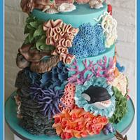 "Weddingcake ""under the sea"""