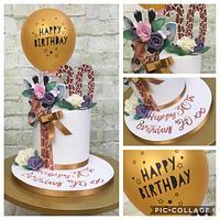 30th Giraffe 🦒 Themed Balloon Cake