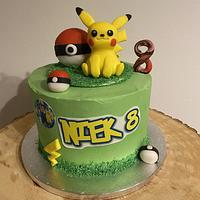 Pokémon-/Pikachu-cake