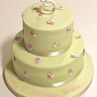 2 Tier Blossom Cake
