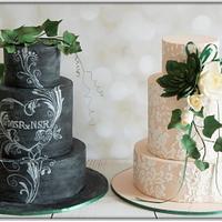 His & Hers Wedding Cakes