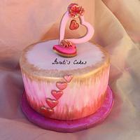 Family's Valentine's Day Cake
