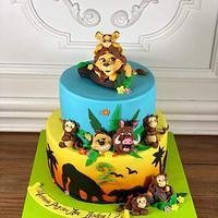 King lion cake