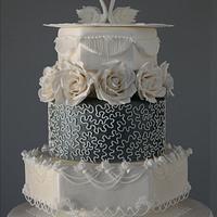 Swans Royal Icing Wedding Cake