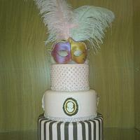 Pink & Brown Mascaraed   by thecakepantry