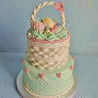 Easter Basket Cake by Alisa Seidling