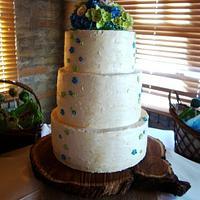 Hydrangeas Wedding Cake
