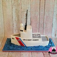 Coast Guard Retirement Cake,  Cutter Northland