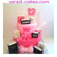 Shopping bags 2 tiers cake