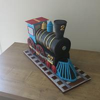 """Two -Two"" Train Engine Cake by The Garden Baker"