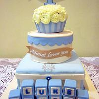 Baby Blue 3 Tier Cake