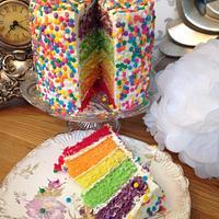 Rainbow Sprinkle Cake..x.