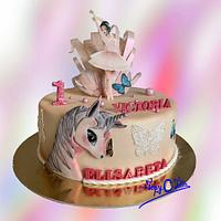 Ballerina, Unicorn and butterflies