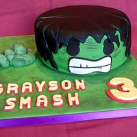 Hulk Cake and Marvel Cupcakes