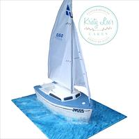 Hartley Sailing Boat Cake
