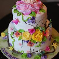 A Midsummer Night's Dream themed baby shower cake