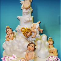 Christening Cake torta Battesimo in pasta di zucchero
