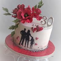 Birthday poppy cake