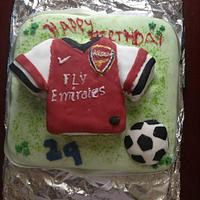 first football shirt cake
