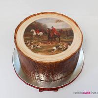Fox Hunt Tree Stump Cake
