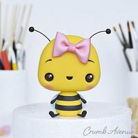 Cute Bee Cake Topper