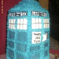 My first Tardis cake