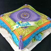 Moraccon Pillow Cake by It'z My Party Cakery