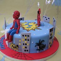 Spiderman birthday cake by Deborah Cubbon (the4manxies)