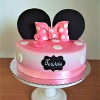 Birthday cake Minnie
